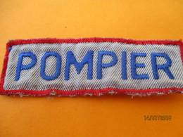 Ecusson Tissu D'entreprise/POMPIER / BRONZE ACIOR/ Eure/ Années 80       ET204 - Blazoenen (textiel)