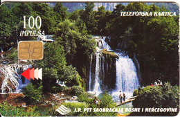 BOSNIA - Waterfall, Slapovi Une(100 Units), Used - Bosnia