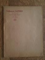 Paris - Catalogue Et Tarif - Ferblanterie Gauthier, Burettes Pour Automobiles... - Cars