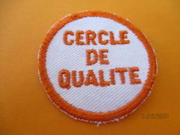 Ecusson Tissu D'entreprise/CERCLE De QUALITE / BRONZE ACIOR/ Eure/ Années 80       ET207 - Ecussons Tissu