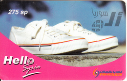 SYRIA - Athletic Shoes, Hello Syria By Syrian Telecom Prepaid Card 275 Sp, Used - Syria