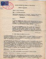 VP12.747 - Acte De 1963 - Entre La S.N.C.F Ligne De PARIS à BORDEAUX - Gare DES CORPS & La Sté PLANCHARD à TOURS - Chemin De Fer