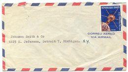 Haiti 1958 Airmail Cover Jacmel To U.S. W/ Scott C119 International Geophysical Year - Haïti