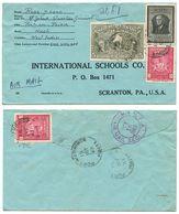 Haiti 1949 Registered Airmail Cover Port-au-Prince To U.S. W/ Scott 380, C34, RA10 - Haiti