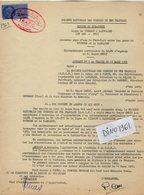 VP12.748 - TOURS - Acte De 1963 - Entre La S.N.C.F Ligne De VIERZON à SAINCAIZE - Gare De PONT VERT & Mr SENLY à BOURGES - Chemin De Fer
