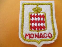 Ecusson Tissu Ancien à Coudre/ Principauté De MONACO/ Monaco / Années 70 - 80       ET210 - Ecussons Tissu