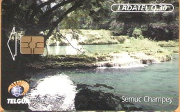 Guatemala - GT-TLG-0004, Telgua - Ladatel, Semuc Champey, GEM5 (Red), 30Q, 1999, Unused, Mint - Guatemala