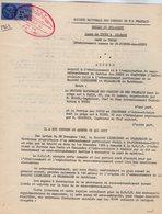 VP12.749 - TOURS - Acte De 1963 - Entre La S.N.C.F Ligne De TOURS à ORLEANS  & Le Servises Des Ponts & Chaussées - Chemin De Fer