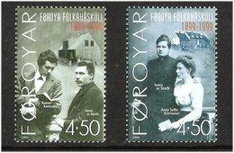 Faroe Islands 2000 100 Years Of The Faroese Folk High School  Mi 372-373 MNH(**) - Féroé (Iles)