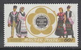 TIMBRE NEUF DE HONGRIE - COUPLES BULGARE ET HONGROIS EN COSTUMES NATIONAUX N° Y&T 1986 - Kostums