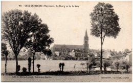 53 GREZ-en-BOUERE - Le Bourg Vu De La Gare - Francia
