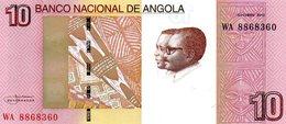 Angola Belhete  De 10 Kwanzas 2012 - Angola