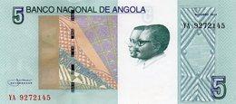 Angola Belhete  De 5 Kwanzas 2012 - Angola