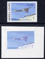 54271 Sierra Leone 1987 Bleriot XI First Cross Channel  Flight (from Milestones Of Transportation Set (aviation) - Sierra Leone (1961-...)