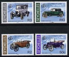6259 Seychelles 1985 Vintage Cars Set Of 4 (ford Austin Morris Humber)(blocks Or Gutter Pairs Pro-rata) - Seychelles (1976-...)