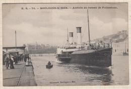 8AK1720 BOULOGNE SUR MER ARRIVEE DU BATEAU DE FOLKESTONE 2 SCANS - Boulogne Sur Mer