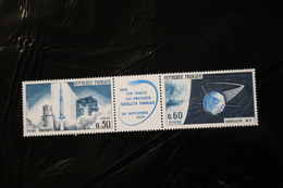 FRANCE 1138a French Satellite A-1 Strip With Label MNH 1965 A04s - Frankrijk