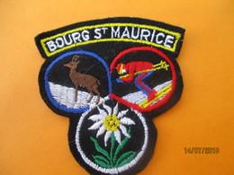 Ecusson Tissu Ancien à Coudre/ Station BOURG SAINT MAURICE/  SAVOIE/ Années 70 - 80       ET220 - Ecussons Tissu