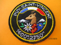 Ecusson Tissu Ancien à Coudre/ Station PUY SAINT VINCENT/Hautes Alpes/ Années 70 - 80       ET225 - Ecussons Tissu