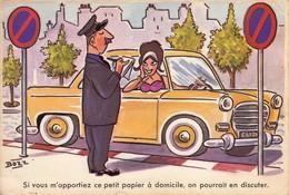 Illustrateur BOZZ : Si Vous M'apportiez Ce Petit Papier à Domicile, On Porrait En Discuter - CPM écrite - Illustrateurs & Photographes