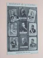 SOUVENIR De La GUERRE - Honneur Aux Alliés ( Imp. F. Forir Liège ) Anno 1918/19 ( Zie Foto's ) ! - Königshäuser