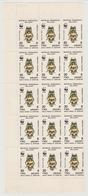 Madagascar Madagaskar 1988 Mi. 1157 WWF Insekten Insects Insectes MNH Block Of 15 RARE - Unused Stamps