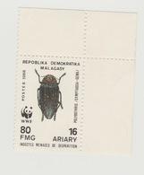 Madagascar Madagaskar 1988 Mi. 1158 WWF Insekten Insects Insectes MNH - W.W.F.