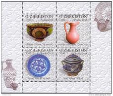 Uzbekistan 2015 Mih. 1099/102 (Bl.71) Pottery MNH ** - Ouzbékistan