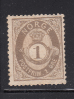 Norway 1877-78 MH Scott #22 1s Post Horn And Crown - Neufs
