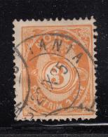Norway 1882-93 Used Scott #38 3s Post Horn 20.5mm - Norvège