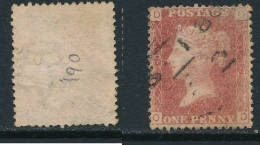 GB, 1864 Penny Red SG43, Plate 190 Fine Used, Cat £7 (P) - Used Stamps