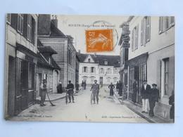 C.P.A. : 27 BOURTH : Route De Verneuil, Animé, Timbre En 1926 - France