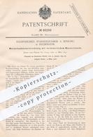 Original Patent - Sparherdfabrik A. Senking , Hildesheim , 1892 , Wasserbadkocher | Wasserkocher , Wasser - Erwärmer !!! - Documenti Storici