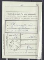 Afgiftebewijs Van Een Aangetekende Zending Met Sterstempel Dolimarts (Bohan) - Marcophilie