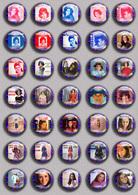 SHEILA Music Fan ART BADGE BUTTON PIN SET 7 (1inch/25mm Diameter) 35 DIFF - Music