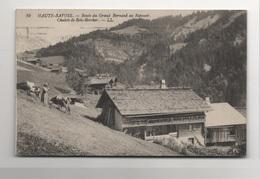Nan0025 RARE CPA HAUTE SAVOIE : Route Du Grand Bornand Au Reposoir - Chalets De Bois-Bercher - Autres Communes
