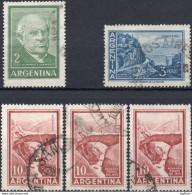 ARGENTINA 1960/1972 - SARMIENTO + CATAMARCA + MENDOZA - 5 VALORI USATI - Argentina
