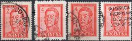 ARGENTINA 1961/1962 - GENERALE SAN MARTIN - 4 VALORI USATI - Argentina