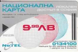 BULGARIA - Netel Preppaid Card 9.99 Leva, Used - Bulgaria