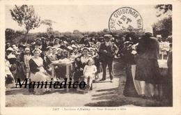 1938 Environs D'AURAY.- Noce Bretonne à Table. Carte Taxée.TBE - Noces