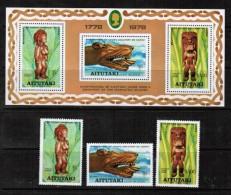 AITUTAKI  Scott # 160-2 AND 162a** VF MINT NH INCLUDING Souvenir Sheet SS-212 - Aitutaki