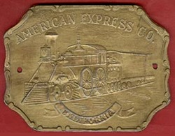 ** PLAQUE  AMERICAN  EXPRESS  CO.  +  3  PLAQUES ** - France