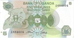 Uganda 5 Shillings 1982 Pick 15 UNC - Uganda