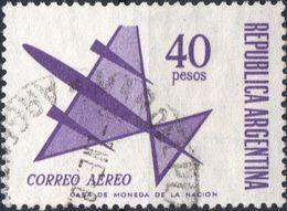 ARGENTINA 1967/1971 - AEREO STILIZZATO - 1 VALORE USATO - Argentina