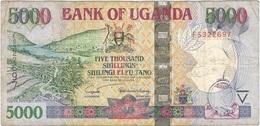 Uganda 5.000 Shillings 2005 Pick 44b Ref 1796 - Uganda
