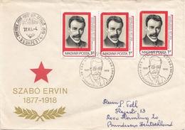 UNGARN 1977 - 3 Sondermarken Auf Brief Gel.v. Budapest > Hamburg - Ungarn