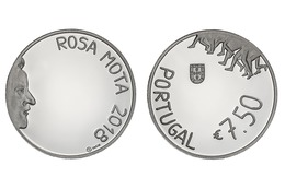 "PORTUGAL 7,50€uro   2.018  2018  ""ROSA MOTA""  CU-NI  SC/UNC   T-DL-12.203 - Portugal"