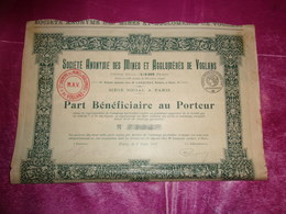 MINES ET AGGLOMERES DE VOGLANS (1917) - Shareholdings