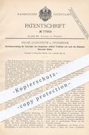 Original Patent - Birger Ljungström , Stockholm , Schweden , 1894 , Fahrrad - Antrieb | Fahrräder , Pedal , Tretkurbel - Documenti Storici
