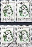 ARGENTINA 1983/1984 - FIORI - 4 VALORI USATI - Argentina